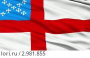 Купить «Развевающийся флаг епископальной церкви», видеоролик № 2981855, снято 16 ноября 2011 г. (c) ИЛ / Фотобанк Лори