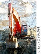 """Купить «Ковш экскаватора """"Хитачи""""», фото № 2986091, снято 23 ноября 2011 г. (c) Хайрятдинов Ринат / Фотобанк Лори"""