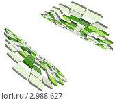 Купить «Серо-зеленый мозаичный фон», иллюстрация № 2988627 (c) Павел Коновалов / Фотобанк Лори