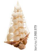 Корабль из ракушек. Стоковое фото, фотограф Сергей / Фотобанк Лори