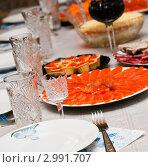 Купить «Праздник.Сервированный стол», эксклюзивное фото № 2991707, снято 23 ноября 2011 г. (c) Игорь Низов / Фотобанк Лори