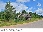 Купить «Старый дом у дороги», эксклюзивное фото № 2997567, снято 30 июля 2011 г. (c) Елена Коромыслова / Фотобанк Лори