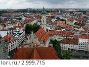 Вид на Мюнхен с колокольни собора св. Михаила (2011 год). Стоковое фото, фотограф Виталий Куценко / Фотобанк Лори