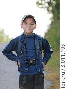 Мальчик с камерой. Стоковое фото, фотограф OlgaM. / Фотобанк Лори