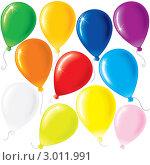 Цветные воздушные шары. Стоковая иллюстрация, иллюстратор PILart / Фотобанк Лори