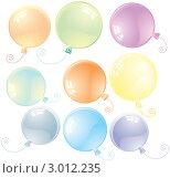 Блестящие  воздушные шары. Стоковая иллюстрация, иллюстратор PILart / Фотобанк Лори