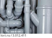 Много канализационных серых труб. Стоковое фото, фотограф Дмитрий Наумов / Фотобанк Лори