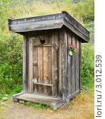 Купить «Старый деревянный туалет на улице», фото № 3012539, снято 7 апреля 2020 г. (c) Дмитрий Наумов / Фотобанк Лори