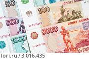 Купить «Российские деньги разного достоинства», эксклюзивное фото № 3016435, снято 29 ноября 2011 г. (c) Игорь Низов / Фотобанк Лори