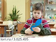 На уроке труда в школе, фото № 3025495, снято 11 марта 2000 г. (c) Володина Ольга / Фотобанк Лори