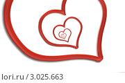 Купить «Бесконечная любовь. Сердце на белом фоне», иллюстрация № 3025663 (c) Liseykina / Фотобанк Лори