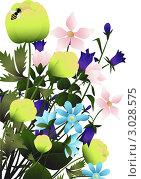 Купить «Букет полевых цветов», иллюстрация № 3028575 (c) Валентина Шибеко / Фотобанк Лори