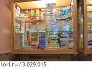 Купить «Шкаф с лекарствами в аптеке», эксклюзивное фото № 3029015, снято 21 июля 2011 г. (c) Анатолий Матвейчук / Фотобанк Лори