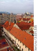 Вид на Прагу сверху (2011 год). Стоковое фото, фотограф Яков Филимонов / Фотобанк Лори