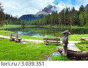 Купить «Красивое лето на альпийском озере (Лаго ди Анторно, Италия, Доломиты)», фото № 3039351, снято 8 июня 2011 г. (c) Юрий Брыкайло / Фотобанк Лори