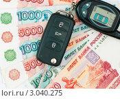 Купить «Покупка автомобиля. Ключи от машины и деньги», эксклюзивное фото № 3040275, снято 29 ноября 2011 г. (c) Игорь Низов / Фотобанк Лори