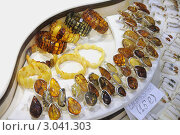 Купить «Подарки из янтаря  на витрине сувенирной лавки. Прага.», фото № 3041303, снято 2 октября 2011 г. (c) Федор Королевский / Фотобанк Лори