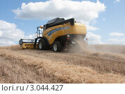 Купить «Уборка урожая зерновых культур», фото № 3044427, снято 3 августа 2011 г. (c) Михаил Рыбачек / Фотобанк Лори