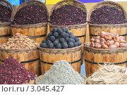 Специи, пряности и приправы на Египетском рынке (2010 год). Стоковое фото, фотограф kiyanochka / Фотобанк Лори