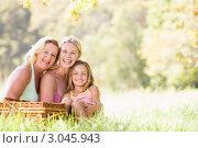 Купить «Счастливая семья на пикнике», фото № 3045943, снято 3 февраля 2006 г. (c) Monkey Business Images / Фотобанк Лори