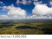 Кучевые облака над лесотундрой летом. Стоковое фото, фотограф Владимир Мельников / Фотобанк Лори