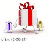 Подарок с подарочками. Стоковая иллюстрация, иллюстратор Виталий / Фотобанк Лори
