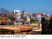 Панорама Малаги (2010 год). Стоковое фото, фотограф Сергей Высоцкий / Фотобанк Лори