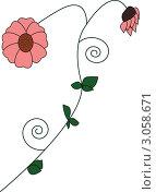Цветок. Стоковая иллюстрация, иллюстратор Елена Назаркина / Фотобанк Лори