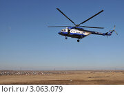 Купить «Полицейский вертолёт», эксклюзивное фото № 3063079, снято 14 октября 2011 г. (c) Free Wind / Фотобанк Лори