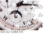 Купить «Пазл, циферблат часов со стрелками», фото № 3064131, снято 28 января 2007 г. (c) Николай Охитин / Фотобанк Лори