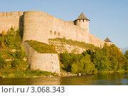 Купить «Ивангородская крепость», эксклюзивное фото № 3068343, снято 16 сентября 2011 г. (c) Александр Щепин / Фотобанк Лори