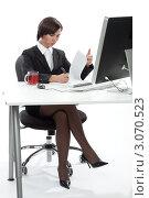 Купить «Сотрудник офиса», фото № 3070523, снято 20 декабря 2011 г. (c) Михаил Иванов / Фотобанк Лори