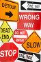 Комплект дорожных знаков, фото № 3074855, снято 6 августа 2008 г. (c) Monkey Business Images / Фотобанк Лори