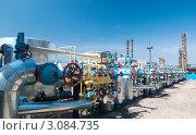 Купить «Газоперерабатывающий завод. Трубы и вентили», фото № 3084735, снято 18 августа 2009 г. (c) Николай Забурдаев / Фотобанк Лори