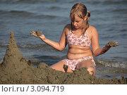 Купить «Замок из песка», фото № 3094719, снято 14 сентября 2011 г. (c) Svetlana Zavrazhina / Фотобанк Лори