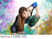 Хип-хоп в красках. Стоковое фото, фотограф Павел Сазонов / Фотобанк Лори