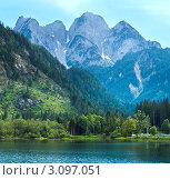 Купить «Альпийской озеро Госаузеен в летний день», фото № 3097051, снято 22 марта 2019 г. (c) Юрий Брыкайло / Фотобанк Лори