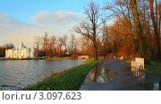 Купить «Пушкинский парк в Санкт-Петербурге», видеоролик № 3097623, снято 23 декабря 2011 г. (c) Михаил Коханчиков / Фотобанк Лори