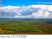 Облака над тайгой. Стоковое фото, фотограф Владимир Мельников / Фотобанк Лори
