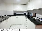 Купить «Белая современная кухня», фото № 3118843, снято 21 ноября 2011 г. (c) Яков Филимонов / Фотобанк Лори