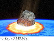 Купить «Столкновение астероида с Землей», иллюстрация № 3119679 (c) Сергей Куров / Фотобанк Лори