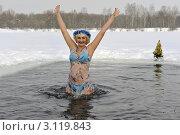 Зимнее плавание и закаливание. Стоковое фото, фотограф Владимир ГОРОВЫХ / Фотобанк Лори
