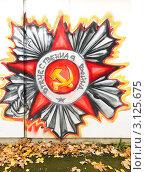 Граффити. Орден Отечественной войны (2011 год). Редакционное фото, фотограф Алёшина Оксана / Фотобанк Лори