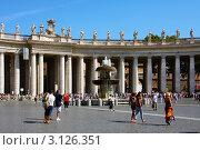 Площадь перед Собором Святого Петра, Ватикан, Рим (2008 год). Редакционное фото, фотограф ElenArt / Фотобанк Лори