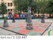Купить «Шахматный дворик», фото № 3129447, снято 4 сентября 2010 г. (c) Левина Татьяна / Фотобанк Лори