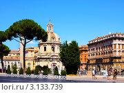 Купить «Италия, Рим. Римский форум, базилика и Троянская колонна», фото № 3133739, снято 26 августа 2008 г. (c) ElenArt / Фотобанк Лори