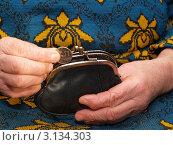 Женщина опускает монету в кошелёк. Стоковое фото, фотограф Сергей Боженов / Фотобанк Лори
