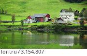 Купить «Сельский пейзаж, Норвегия», видеоролик № 3154807, снято 7 января 2012 г. (c) chaoss / Фотобанк Лори