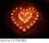 Два горящих сердца. Стоковое фото, фотограф Ольга Анофриева / Фотобанк Лори