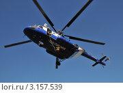 Купить «Полицейский вертолёт», эксклюзивное фото № 3157539, снято 14 октября 2011 г. (c) Free Wind / Фотобанк Лори